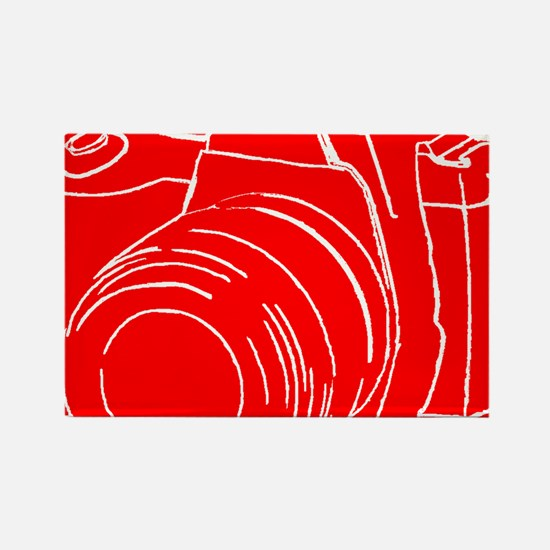 RED! Rectangle Magnet