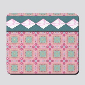 Baby Pink and Turquoise Mousepad