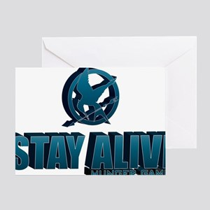 Stay Alive Hunger Games Greeting Card