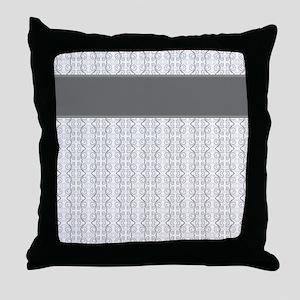 Pretty Gray Throw Pillow