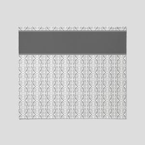 Pretty Gray Throw Blanket