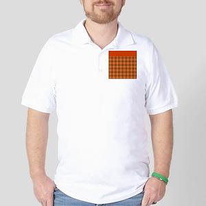 Orange Plaid Golf Shirt