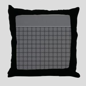 Just Gray Throw Pillow