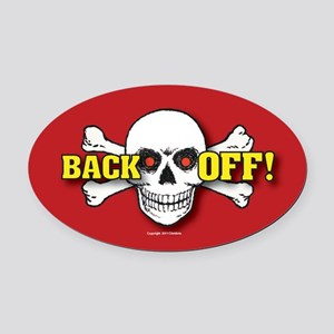 OTG 5 Back off 2  Sticker Oval Car Magnet