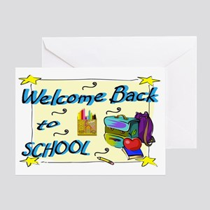 Welcome back to school greeting cards cafepress welcome back to school backpack greeting card m4hsunfo