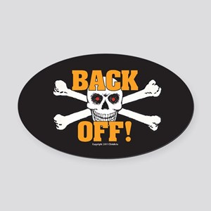 OTG 6 Back Off 2  Sticker Oval Car Magnet