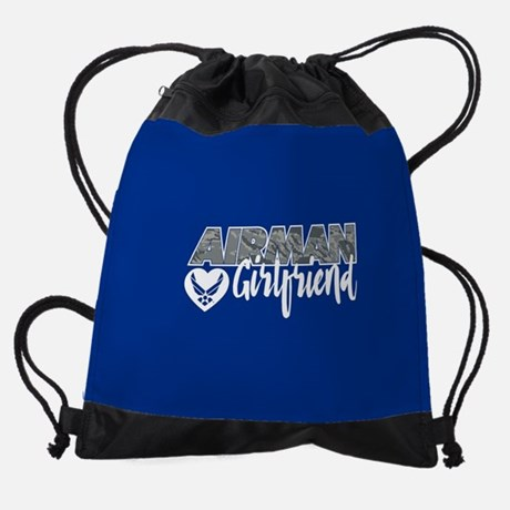 Airman Girlfriend Drawstring Bag Drawstring Bag
