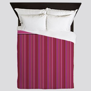 Pink Stripes Queen Duvet