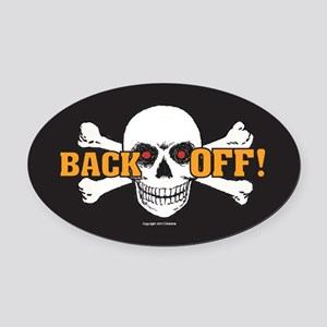OTG 6 Back Off 2a  Sticker Oval Car Magnet
