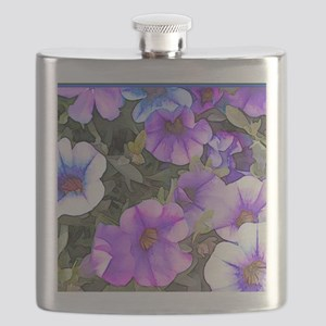 Purple and Blue Petunias Flask