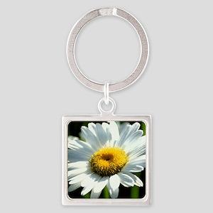 Cheery Daisy Square Keychain