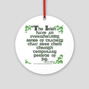 Funny Oscar Wilde Quote Ornament (Round)