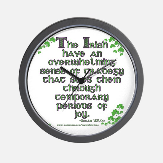 Funny Oscar Wilde Quote Wall Clock