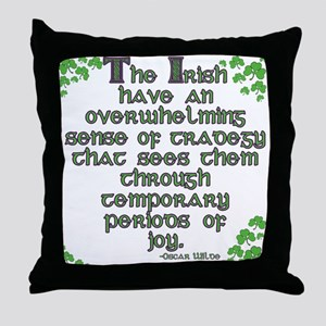 Funny Oscar Wilde Quote Throw Pillow