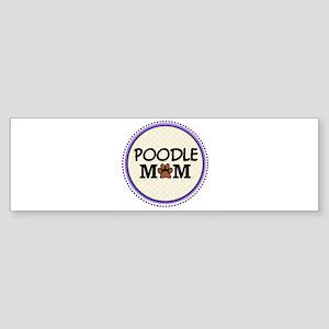Poodle Dog Mom Bumper Sticker