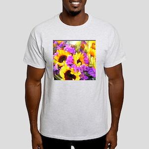 Sunflower and Statice Bouquet Light T-Shirt