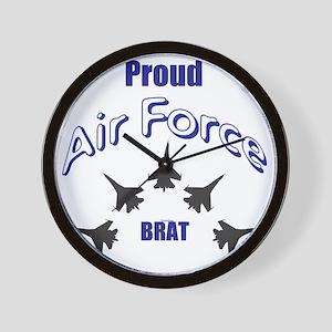 Proud Air Force Brat Wall Clock