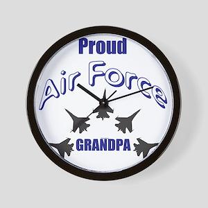 Proud Air Force Grandpa Wall Clock