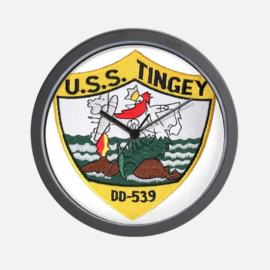 uss tingey patch transparent Wall Clock
