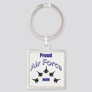 Proud Air Force MOM Square Keychain
