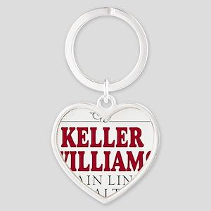Keller Williams Mugs Heart Keychain