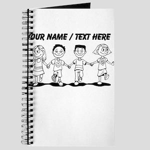 Custom Kids Holding Hands Journal