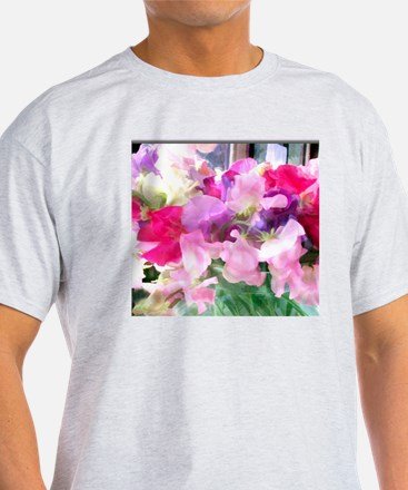 Old Fashioned Sweet Peas in a Jar T-Shirt