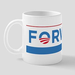 Obama Biden Forward Logo Bumper Sticker Mug