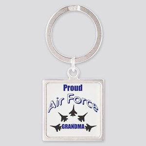 Proud Air Force Grandma Square Keychain
