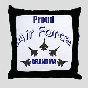 Proud Air Force Grandma Throw Pillow