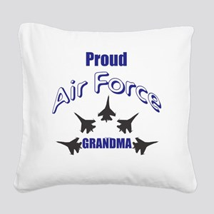 Proud Air Force Grandma Square Canvas Pillow