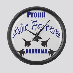 Proud Air Force Grandma Large Wall Clock
