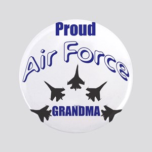 "Proud Air Force Grandma 3.5"" Button"