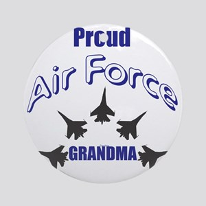 Proud Air Force Grandma Round Ornament