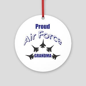 Proud Air Force Grandma Round Ornament