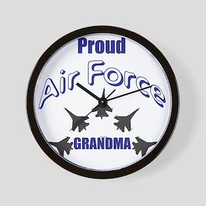 Proud Air Force Grandma Wall Clock