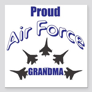 "Proud Air Force Grandma Square Car Magnet 3"" x 3"""