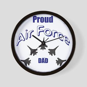 Proud Air Force DAD Wall Clock