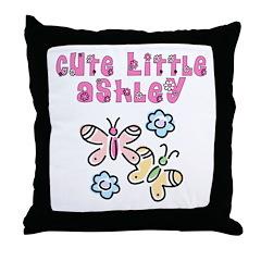 Cute Little Ashley Throw Pillow