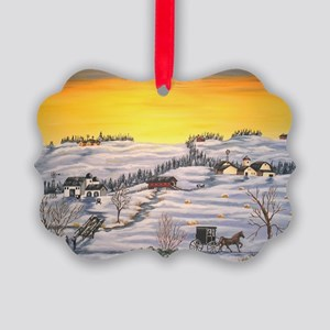 Amish in Lancaster County Pennsyl Picture Ornament