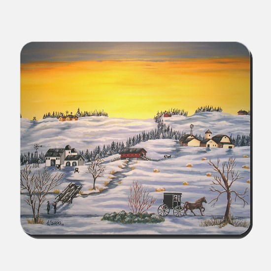 Amish in Lancaster County Pennsylvania Mousepad