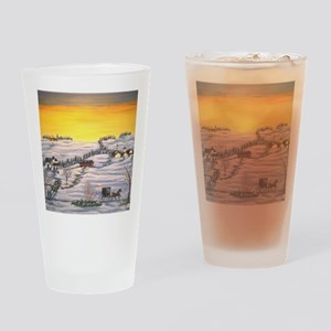 Amish in Lancaster County Pennsylva Drinking Glass