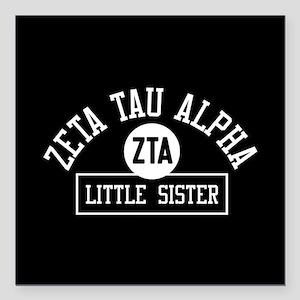 "Zeta Tau Alpha Little Si Square Car Magnet 3"" x 3"""