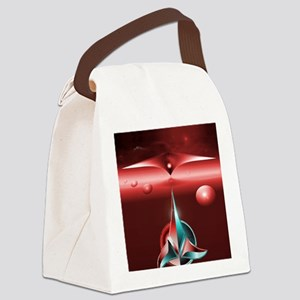 Klingon iphone Red Canvas Lunch Bag