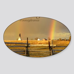 Double Rainbow Sticker (Oval)
