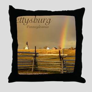Double Rainbow Throw Pillow