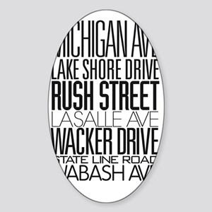 I Love ChiTown Sticker (Oval)