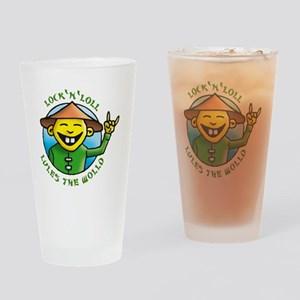 lock and loll lules the wold Drinking Glass