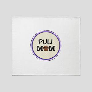 Puli Dog Mom Throw Blanket