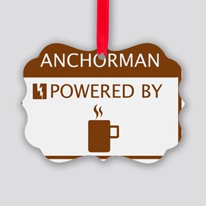 Anchorman Powered by Coffee Picture Ornament